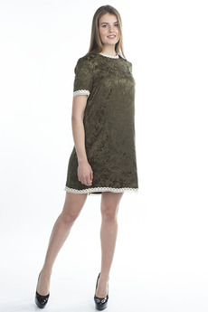 Короткое платье хаки Bast