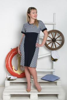Платье в морском стиле Милана
